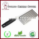 Stainless Steel Crinkle Cut Knife Potato Chip Cutter with Wavy Blade Cutter