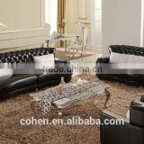 foshan factory Stainless steel frame coffee/center/tea table with marble top