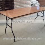high quality rectangle plywood banquet plastic and wooden folding table