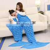 New fish scale style family mermaid tail blanket