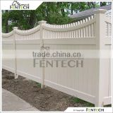 Fentech White Picket Top Plastic Garden Fence Decorative