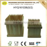 small natural unfinished fense shape wooden crates wholesale