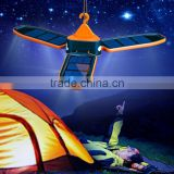 Cheap high quality outdoor highlight rechargeable battery hanging foldable emergency solar power camping light