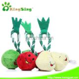 double beans/strawberries/pears stringing pet toy