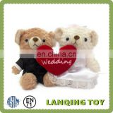 Red Heart Teddy Bear Souvenirs Wholesale Wedding Thank You Gifts For Guests