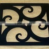 square shape black antique trivets