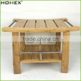 Bamboo Square Stool Bathroom Shower Bench Bamboo Stool Homex BSCI/Factory
