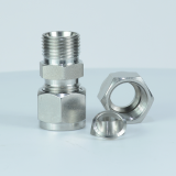 Swagelok Standard Customized Stainless Steel Double Ferrules Tube Fitting For Steel Pipe Connection