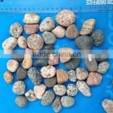 mixed color flat pebble river stone, natural pebble stone