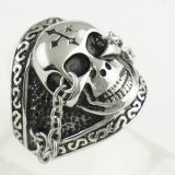 Stainless Steel Gothic Punk Charm Skeleton Jewelry Skull Rings