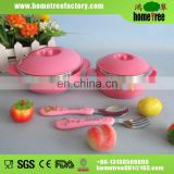 Pink stainless steel baby bowl