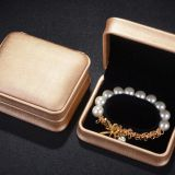 Noble Gold color PU Leather Design Plastic jewelry ring box pendant case bracelet box bangle box