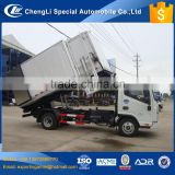 good sealed jac side self loading bin lifter medical waste truck for sale
