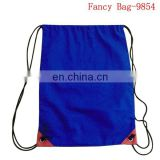 Promotion plain backpack polyester drawstring pouch