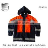 high quality reflective winter warm parka jacket