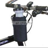 Black Insulated Bicycle Polyester Handlebar Bike Water Bottle Holder