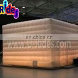 Water Proof Nylon Material Portable Cube Led Inflatable Tent For Show