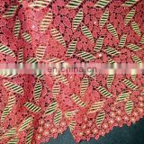 2016 african cord lace ,cord lace trim and cord lace dress for nigeria wedding party