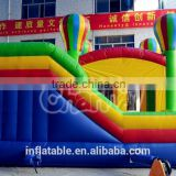 Channal cheap commercial inflatable swimming pool hot tub combo, inflatable bouncer castle with slide,inflatable air castle