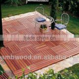 Waterproof WPC Decking Lows Outdoor Deck Tiles