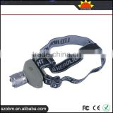 High power XML T6 LED 3 mode Rechargeable 1000 Lumens Emergency Led Headlight with adapter