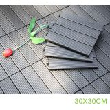30x30cm luxury WPC wood plastic composite vinyl plank decking outdoor flooring tiles low prices for swimming pool