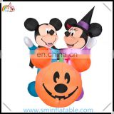 Halloween inflatable mickey & minnie mouse with pumkin for advertising holiday decor from china supplier