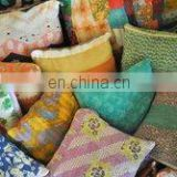 vintage kantha cushion cover handmade sari pillow cover home decor