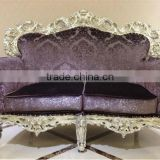 MS-1407-02 Antique furniture sofa for home and hotel silver leaf