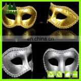 Hot sale Gold lace Glitter Painted Halloween party PVC face mask