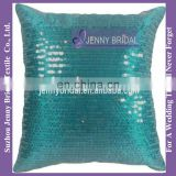 SQP007D 2016 green sequin decorative sequin embroidery design cushion cover pillow case cover