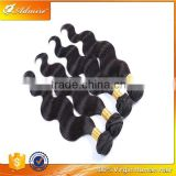 2015 New Fashionable Body Wave 100% Natural Black Virgin Remy Peruvian Hair with Tangle and Shedding Free