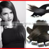 Wholesale Silk Straight Virgin Remy Brazilian Human Cabelo Tape Hair Extensions PU Adhesive Tap Hair Weaves