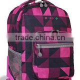 Girls Rolling Backpack Wheeled School girls Pink Roller Travel Book Bag Luggage