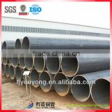 Thin wall black LSAW Welded steel pipe size 8''-56'' from Tianjin factory