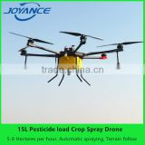 2017 wholesale 15kg pesticide payload agricultural drone sprayer / uav agricultural spraying