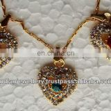Costume fashion jewelry rhinestone pendants set manufacturer, Fashion jewellery rhinestone pendents exportere