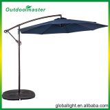 Outdoor Navy Blue 10ft Metal Banana Umbrella with Crank