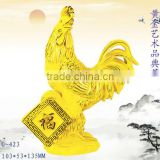 New design 24k Gold Plated cock figurines