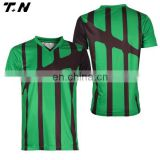 Wholesale football jersey football kits striped blank soccer jersey