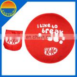 Outdoor advertising item cheap wholesale foldable frisbee