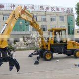 material handlding grab crane municipal solid waste grapple