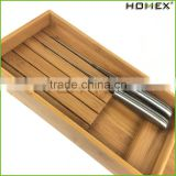 Bamboo knife storage block knife drawer block Homex BSCI/Factory