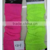 Lady Knitted Leg Warmers Fluorescence leg warmer Fashion colors