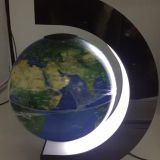 8 inch C shape levitation magnetic rotating globe