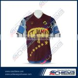 latest design 100% polyester wholesale sublimated men's lacrosse wear