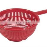 PP kitchen colander, TPR kitchen strainer,plastic kitchen strainer with handle