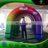 Colorful Inflatable Rainbow Arch Outdoor Event Entrance Gate Inflatable Finish Line LOGO Archway