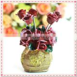 Wedding Gift Red Rose Design Fruit Fork
