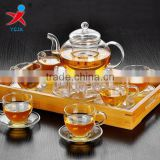 Kungfu tea glass transparent borosilicate glass with stained hand